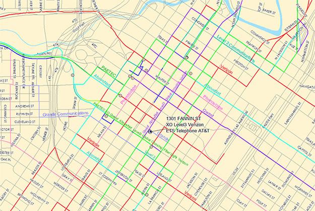 geotel fiber map aerial street