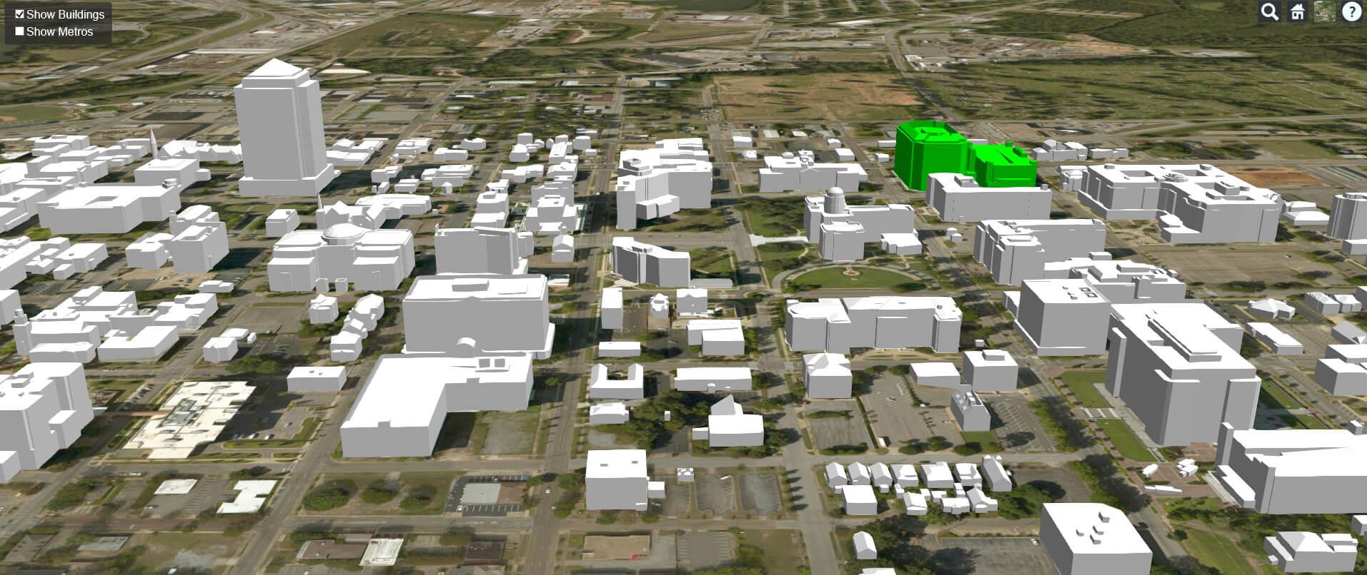 geotel teletracker data fiber lit buildings 3d